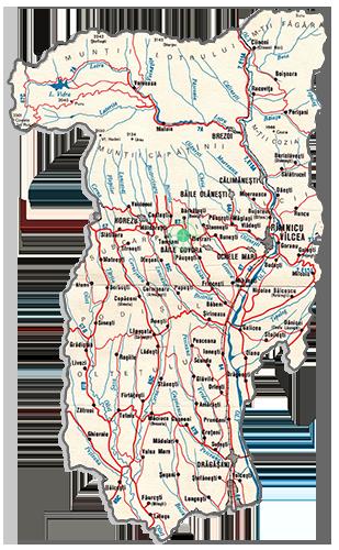 Harta Judet Valcea
